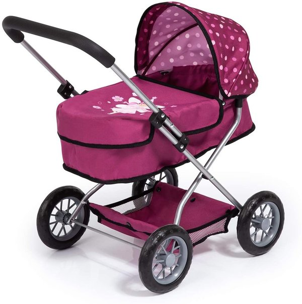 Puppenwagen BAYER smarty * Pink-Brombeer Fee Bordeaux für Baby Puppe