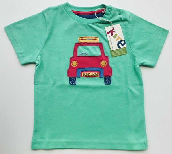 Jungen T-Shirt Auto Road Trip 80 * Kite Clothing * Bio-Baumwolle